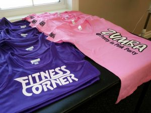 fitness corner t shirts