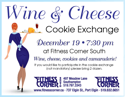 fitness corner wine and cheese