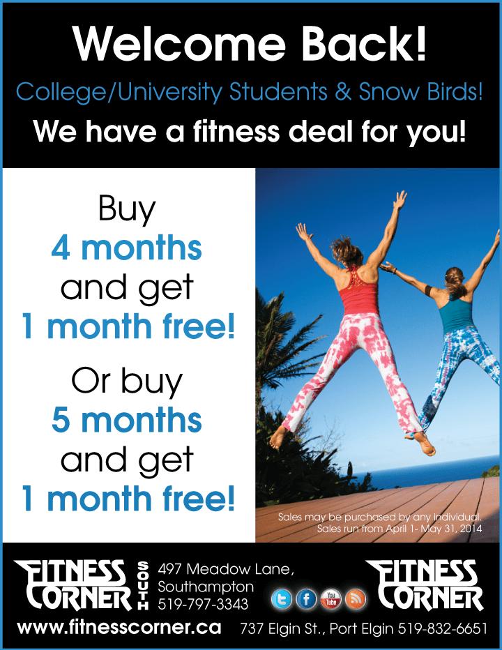 membership sale - Fitness Corner