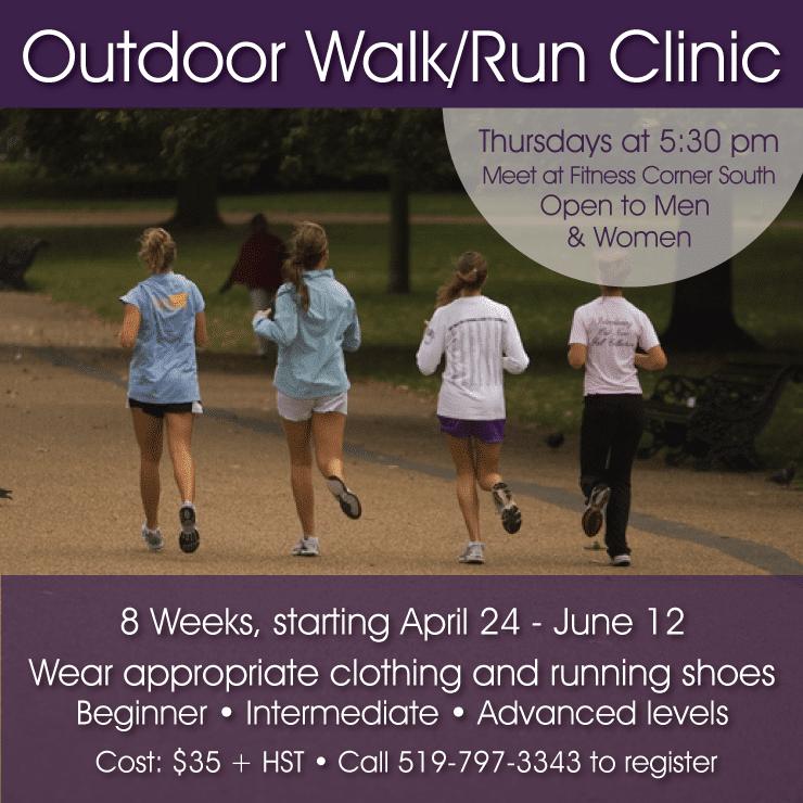 walk run clinic - fitness corner