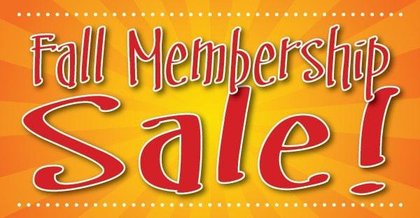 Membership Sale Starts Today!