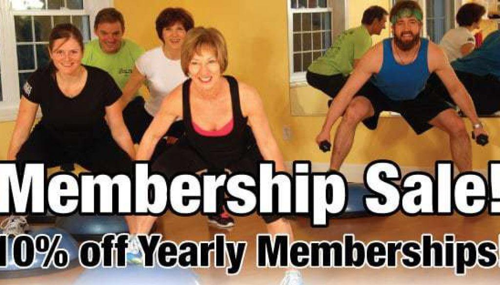 memmbership sale fitness corner port elgin and southampton