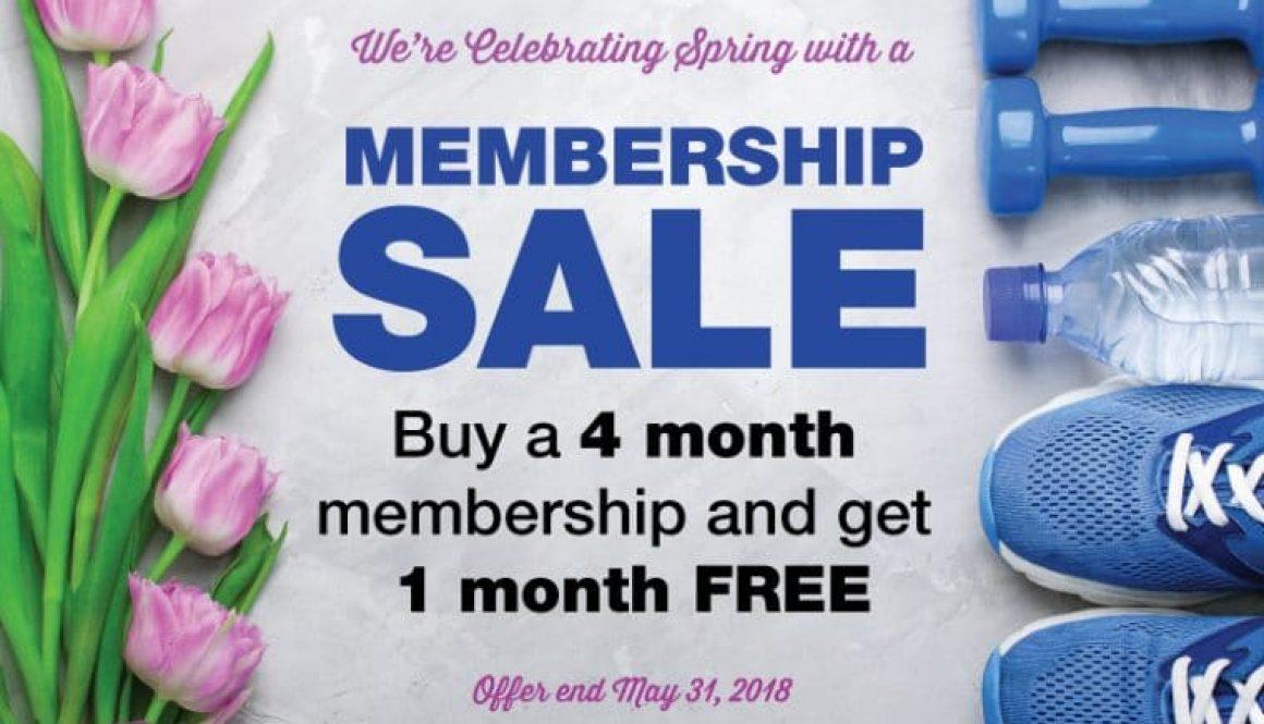 5 month membership sale fitness corner