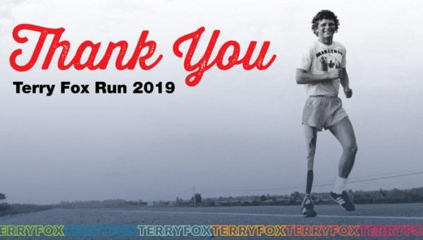 Terry Fox Run Thank You