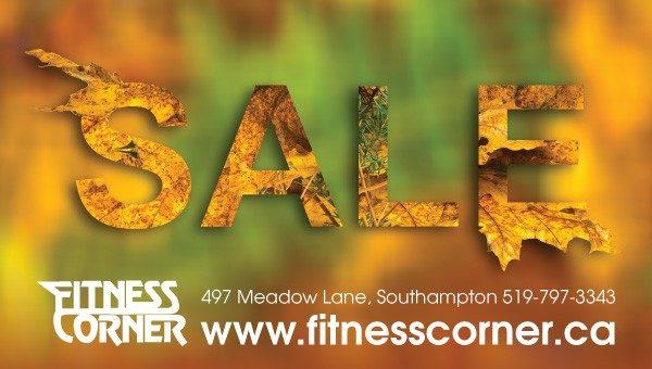 Fitness Corner Fall Sale